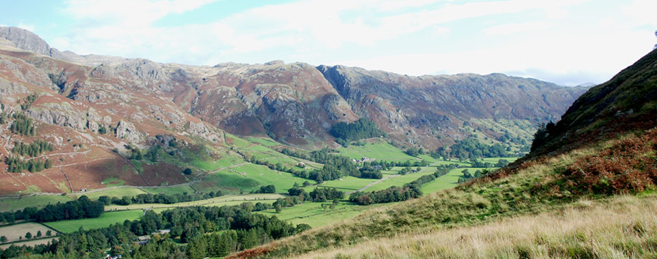 Enjoy the breath-taking views down the Langdale Valley